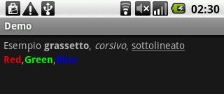 Esempio di screenshot
