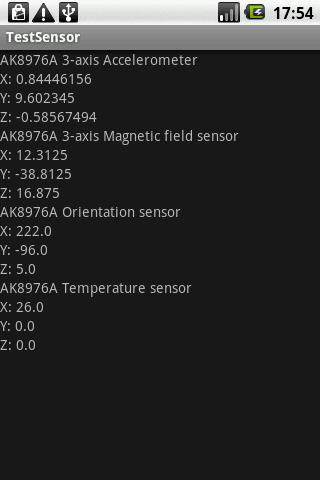 Esempio di TestSensor