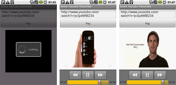 Esempio di VideoViewDemo Applicazione Android Youtube