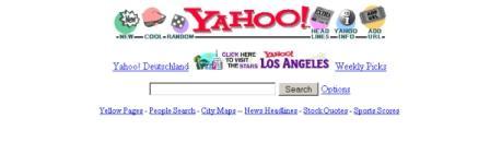 yahoo.com nel gennaio del 1996